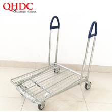 supermarket transport cart 4 wheels platform cargo trolley JHD-WHT-094